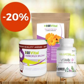 Paket bei Krampfadern (Varizen) - Creme bei Krampfadern, Vitamin P und Tee