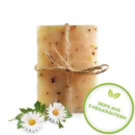 Seife aus 5 Heilkräutern – handgefertigt 95 g